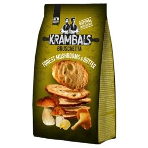 Krambals 70G Bruschetta Forest Mushrooms And Butter - Erdei Gombás és Vajas Ízű Pirított Kenyérszelet