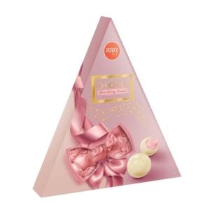 Chiqola Praliné 120G Háromszög Strawberry Cream 43198