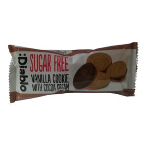 Diablo 44G vaníliás keksz kakaó töltelékkel (cukormentes)