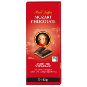 Maitre T. 143G Mozart Dark Tejcsokoládés praliné krémes töltelékkel és fehér csokoládédarabokkal 143G