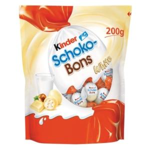 Kinder Schoko-Bons fehércsokoládé bonbonok tejes krémmel és mogyoródarabkákkal töltve 125 g