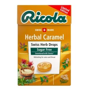 Ricola karamell ízű svájci gyógynövény cukorkák 40 g Cukormentes
