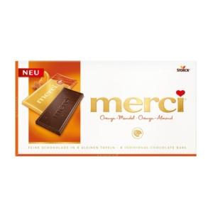 Merci Narancsos Mandulás Tábla Csokoládé 100G