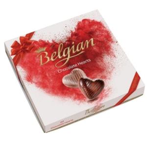 Belgian 200G Hearts Hazelnut Szívdesszert   BPPR1006