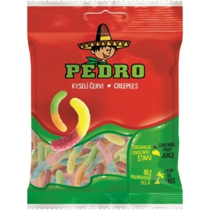 Pedro 80G Creepes Kukac Savanyú Gumicukor  PEDR1004