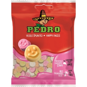 Pedro 80G Happy Faces Gumicukor  PEDR1009