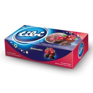 Szaloncukor 360G Tibi Étcsokoládé Csokoládés-Alkoholos Meggyes Krémmel