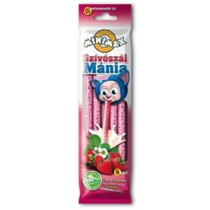 Minimax Szívószálmánia eper ízű szívószál 30G