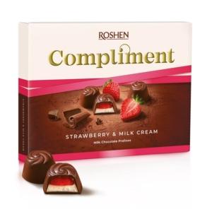Roshen Compliment Eper-Tejkrémes Praliné Desszert 123G