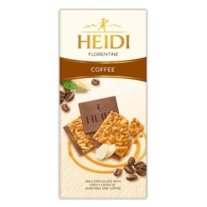 Heidi Grand'Or Florentine Coffee karamellizált, szeletelt mandula réteggel és kávéval töltött tejcsokoládé 100G
