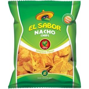 El Sabor 100G Nacho Chips Jalapeno /1545/
