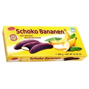 Sir Ch.  Schoco Bananen étcsokoládba mártott  banános habcukorka 300G