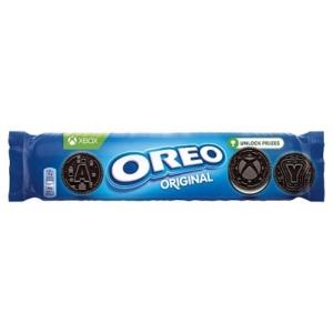 Oreo vanília ízű töltelékkel töltött kakaós keksz 154 g