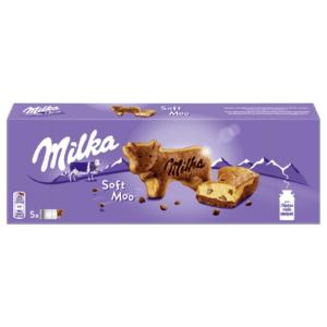 Milka boci alakú piskóta-csokis piskóta csokoládé darabokkal
