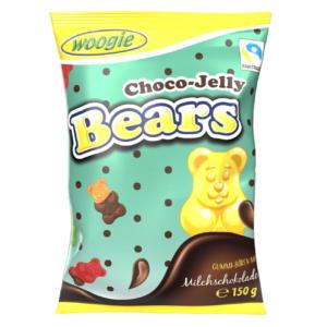 Woogie 150G Gummy Bears With Milk Chocolate /94209/
