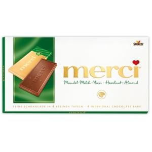 Merci Mandel-Milch-Nuss mogyorós-madulás tejcsokoládé 100G