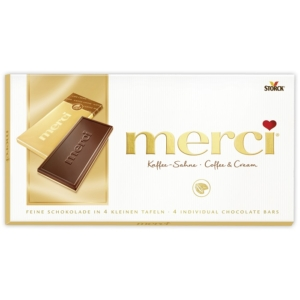 Merci kávé-tejszínes csokoládé fehér csokoládé rétegen 100G