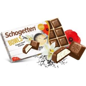 Schogetten 100G Bowls Tejcsokoládé Vaníliával&Mákkal
