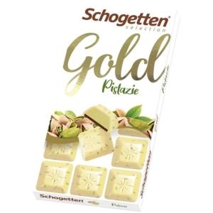 Schogetten Gold pisztáciával töltött fehércsokoládé 100G