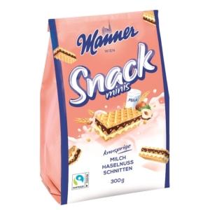 Manner Snack Minis 300g Tejes-Mogyorós Ostya