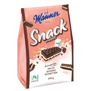 Manner Snack Minis 300g Tejes-Csokoládés Ostya