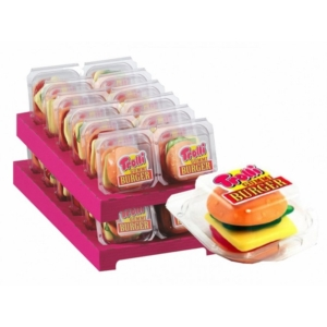 Trolli gyümölcs ízű hamburger formájú gumicukor 12*50G