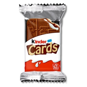 Kinder kártya alakú, tejes és kakaós töltelékkel töltött ropogós ostya 25,6 g