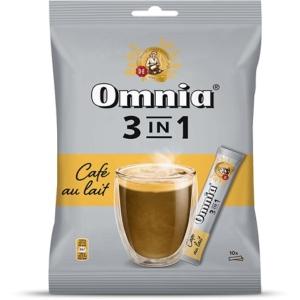 Douwe Egberts Omnia 3in1 Café Au Lait instant kávé 10x12.5g