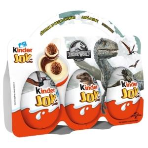 Kinder Joy kakaóval bevont ropogós ostyakülönlegesség tejes és tejes-kakaós krémbe ágyazva 3*20g