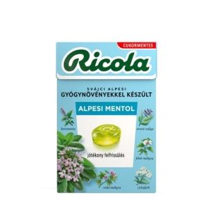 Ricola Alpin Fresh svájci gyógynövény cukorkák 40 g Cukormentes