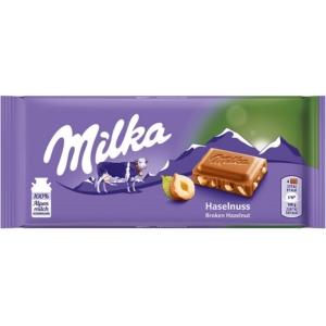 Milka 100G Törtmogyorós/Hazelnuts