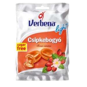 Verbena csipkebogyó ízű töltelékkel töltött cukorka 60G Cukormentes