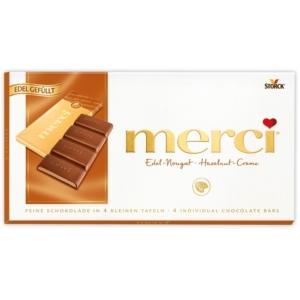 Merci 112G Edel-Marzipan Fine Marzipan mogyoró ízű töltelékkel töltött tejcsokoládé 112G