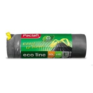 Paclan Szemeteszsák Eco Line 60L 15db-os Zárószalagos