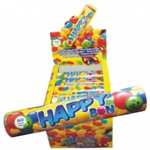 Happy Bon színes cukormázba mártott kakaós drazsé 15G