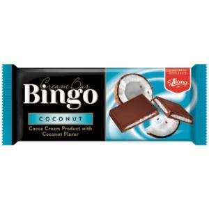 Bingo Cream Bar Kókusz ízű krémmel töltött tejcsokoládé 90G