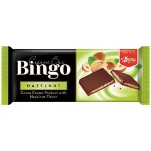 Bingo Cream Bar  Hazelnut mogyoró ízű krémmel töltött tejcsokoládé 90G