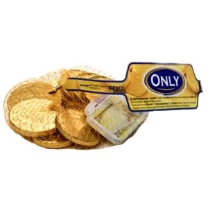 Only tejcsokoládé érmék EURÓ hálóban 100G