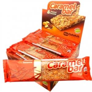 Caramel Bar földimogyorós szezámszelet 45 g