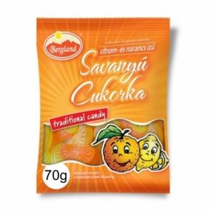 Bergland Savanyú Cukor 70G Citrom-Narancs