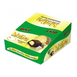 Melba  Ananász ízű krémmel töltött étcsokoládé kocka 12.7G