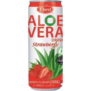 Aloe Vera T-Best 240Ml Strawberry (Eper)