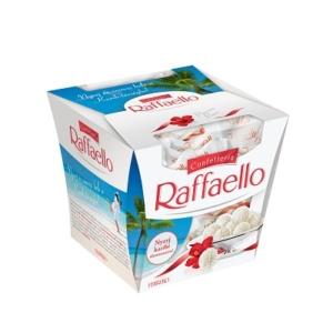 Raffaello ropogós, kókuszos ostyakülönlegesség, belsejében egész szem mandulával 150g