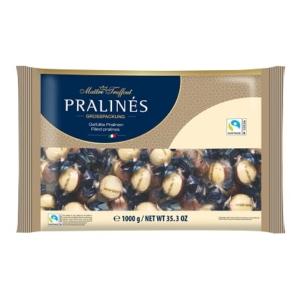 Maitre T. Praline Hazelnut mogyorókrémmel töltött tej és fehércsokoládés praliné 1KG
