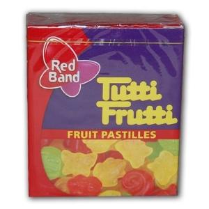 Tutti Frutti ízű kis gumicukorka dobozban 15G