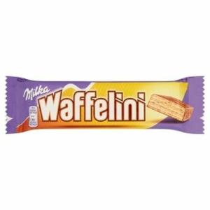 Milka Waffelini alpesi tejcsokoládéval mártott tejes ízű krémmel töltött ostya 31 g
