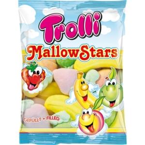 Trolli MallowStars gyümölcs ízű töltött habcukor 150G