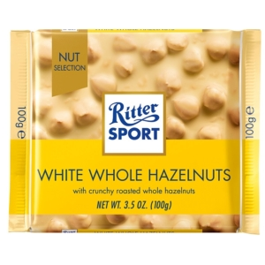 Ritter Sport 100G White Whole Hazelnuts 464125