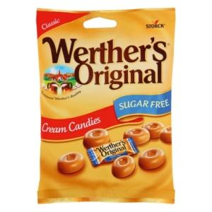 Werther's Original  tejszínes töltetlen keménycukorka édesítőszerekkel 70 g Cukormentes