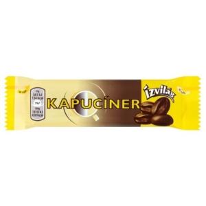 Csemege Kapucíner Étcsokoládéval bevont szelet kávés töltelékkel és tejszínízű töltelékkel 31-33G